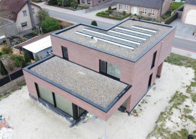Plat dak in Pelt